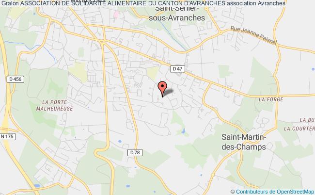 plan association Association De Solidarite Alimentaire Du Canton D'avranches