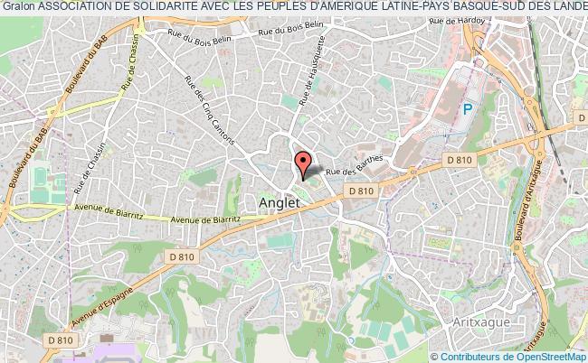 plan association Association De Solidarite Avec Les Peuples D'amerique Latine-pays Basque-sud Des Landes (aspal-pays Basque-sud Des Landes)