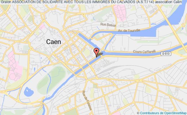 plan association Association De Solidarite Avec Tous Les Immigres Du Calvados (a.s.t.i 14) Caen