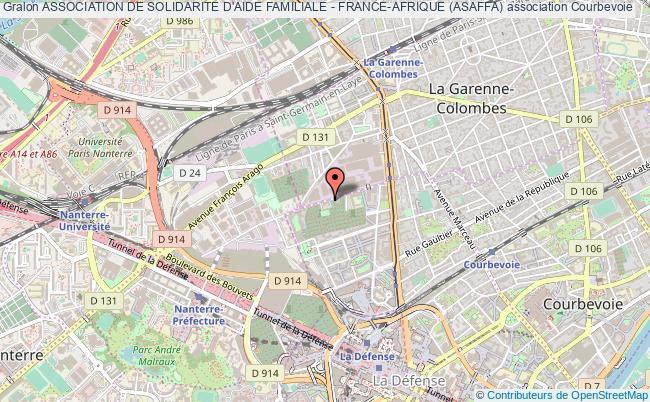 plan association Association De Solidarite D'aide Familiale - France-afrique (asaffa) Courbevoie