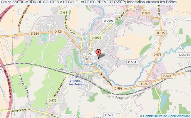 plan association Association De Soutien A L'ecole Jacques Prevert (asep) Villedieu-les-Poêles