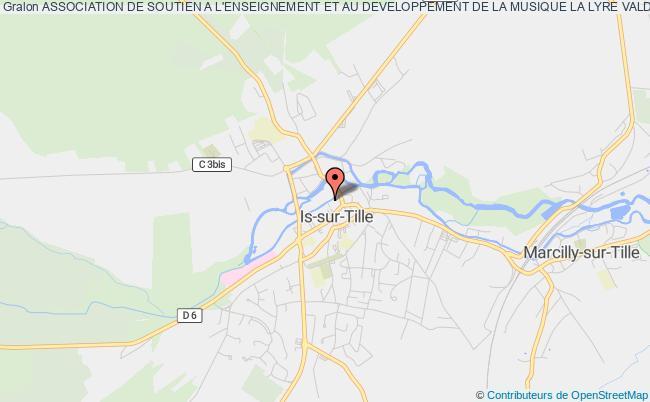 plan association Association De Soutien A L'enseignement Et Au Developpement De La Musique La Lyre Vald'is Is-sur-Tille
