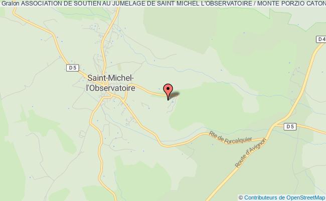 plan association Association De Soutien Au Jumelage De Saint Michel L'observatoire / Monte Porzio Catone