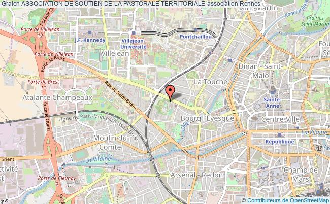 plan association Association De Soutien De La Pastorale Territoriale Rennes