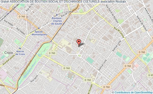 plan association Association De Soutien Social Et D'echanges Culturels Roubaix