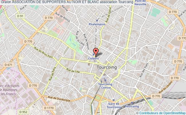 plan association Association De Supporters Au Noir Et Blanc Tourcoing