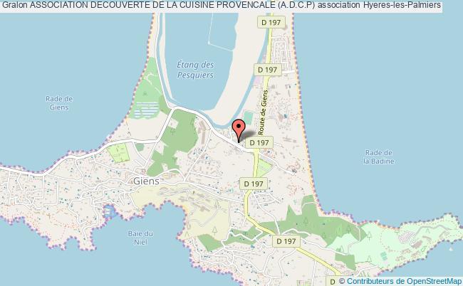 plan association Association Decouverte De La Cuisine Provencale (a.d.c.p)