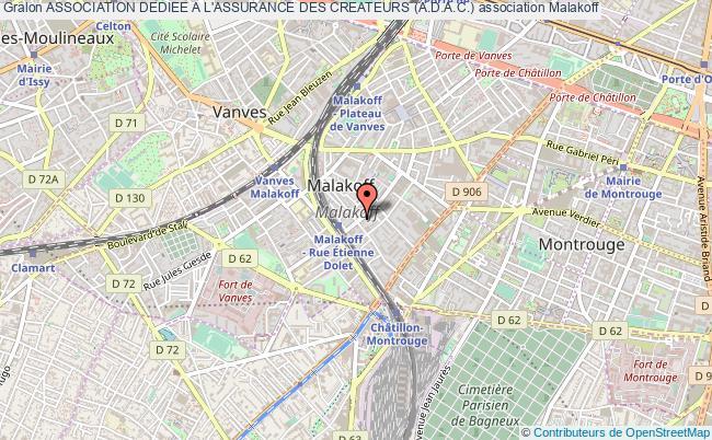 plan association Association Dediee A L'assurance Des Createurs (a.d.a.c.) Malakoff