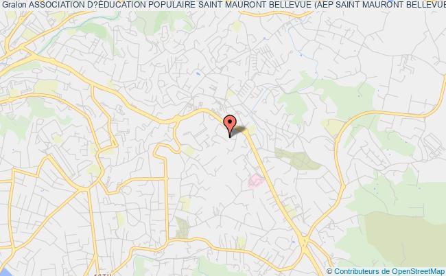 plan association Association D?Éducation Populaire Saint Mauront Bellevue (aep Saint Mauront Bellevue) Marseille