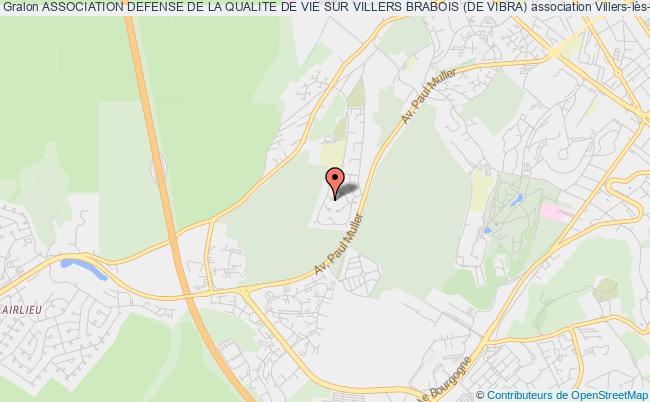 plan association Association Defense De La Qualite De Vie Sur Villers Brabois (de Vibra)
