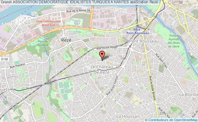 plan association Association Democratique Idealistes Turques A Nantes