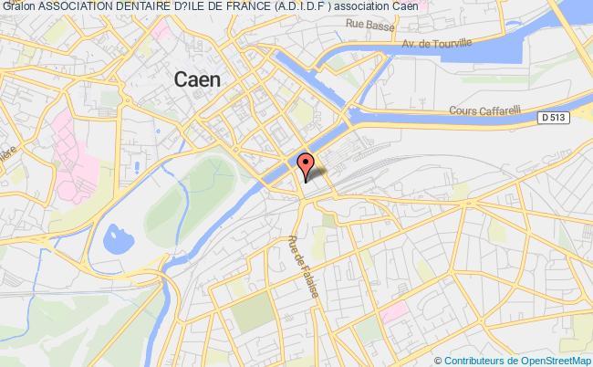 plan association Association Dentaire D?ile De France (a.d.i.d.f ) Caen