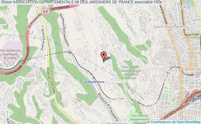 plan association Association Departementale 06 Des Jardiniers De France