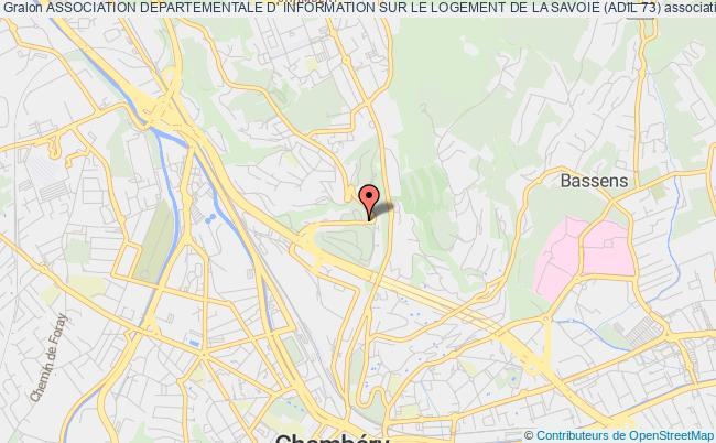 plan association Association Departementale D' Information Sur Le Logement De La Savoie (adil 73)