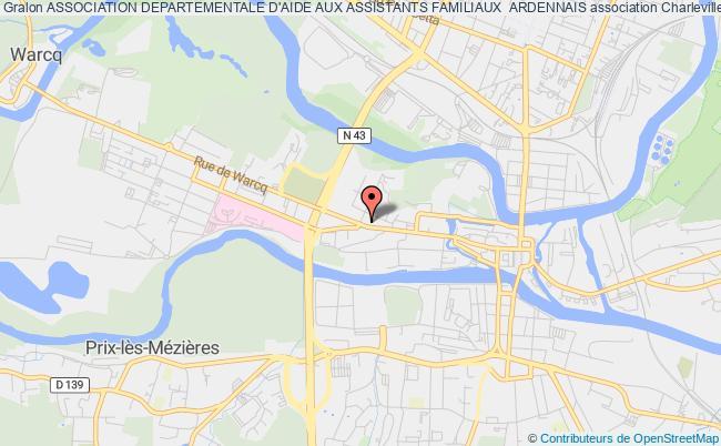 plan association Association Departementale D'aide Aux Assistants Familiaux  Ardennais