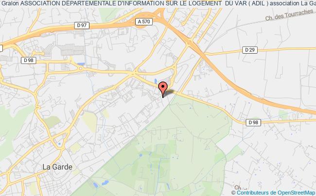 plan association Association DÉpartementale D'information Sur Le Logement  Du Var ( Adil )