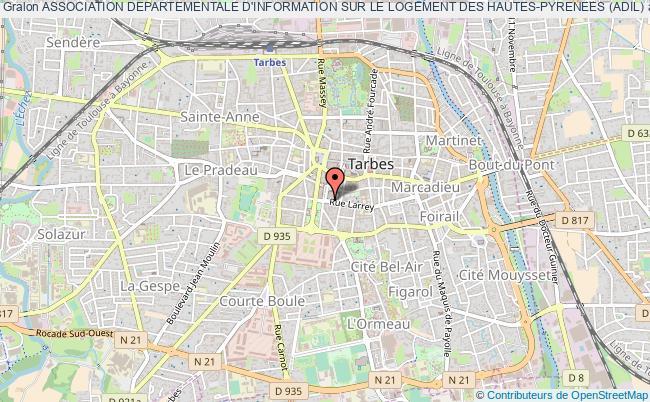 plan association Association Departementale D'information Sur Le Logement Des Hautes-pyrenees (adil) Tarbes