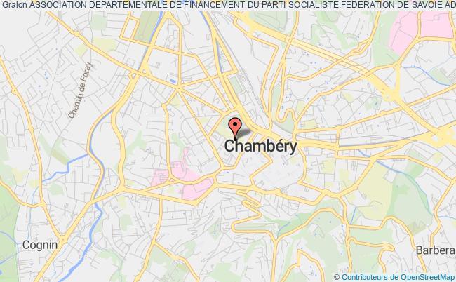 plan association Association Departementale De Financement Du Parti Socialiste.federation De Savoie Adfps 73