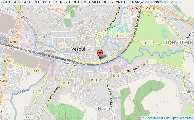 plan association Association DÉpartementale De La MÉdaille De La Famille FranÇaise