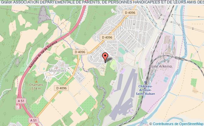 plan association Association Departementale De Parents, De Personnes Handicapees Et De Leurs Amis Des Alpes De Haute Provence