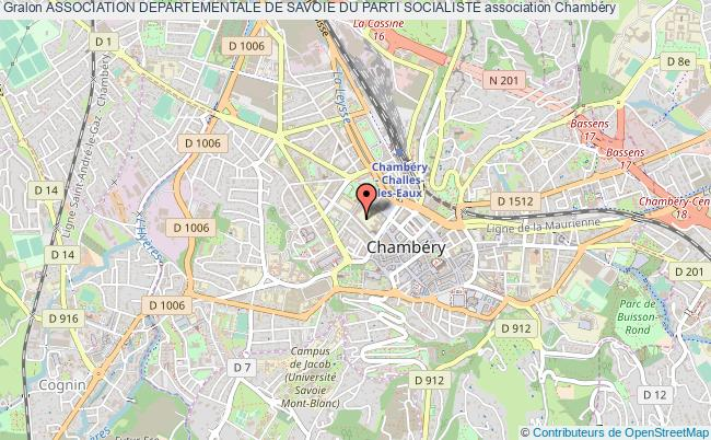 plan association Association Departementale De Savoie Du Parti Socialiste
