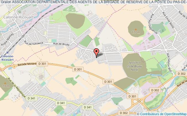 plan association Association Departementale Des Agents De La Brigade De Reserve De La Poste Du Pas-de-calais