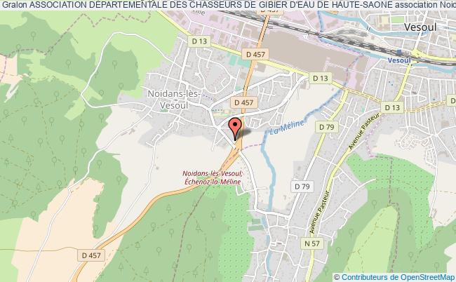 plan association Association DÉpartementale Des Chasseurs De Gibier D'eau De Haute-saone Noidans-lès-Vesoul