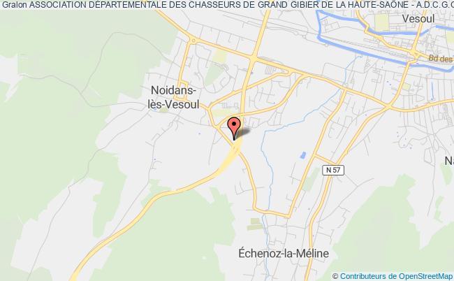 plan association Association DÉpartementale Des Chasseurs De Grand Gibier De La Haute-saÔne - A.d.c.g.g. 70 - Noidans-lès-Vesoul