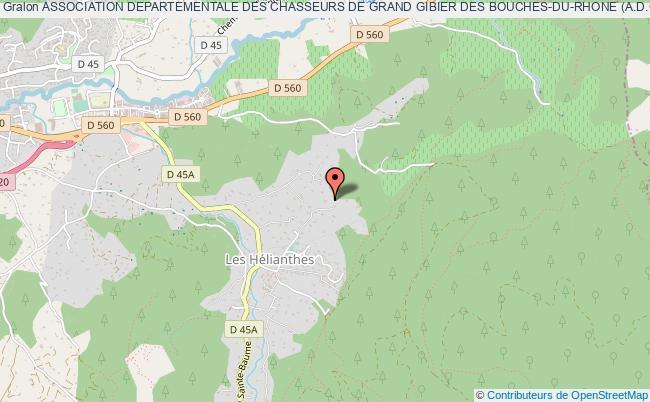 plan association Association Departementale Des Chasseurs De Grand Gibier Des Bouches-du-rhone (a.d.c.g.g. 13)