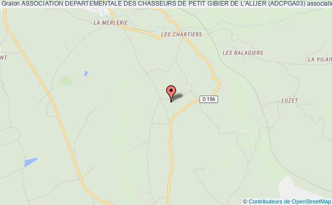 plan association Association Departementale Des Chasseurs De Petit Gibier De L'allier (adcpga03)