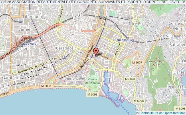 plan association Association Departementale Des Conjoints Survivants Et Parents D'orphelins - Favec 06