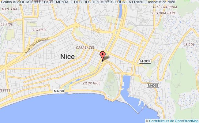 plan association Association Departementale Des Fils Des Morts Pour La France Nice