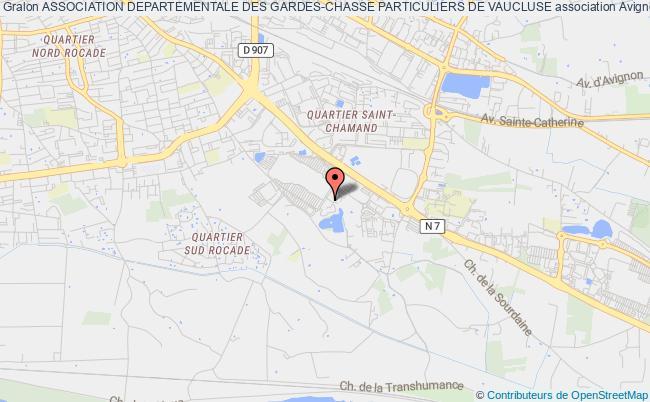 plan association Association Departementale Des Gardes-chasse Particuliers De Vaucluse