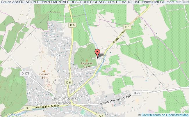 plan association Association Departementale Des Jeunes Chasseurs De Vaucluse
