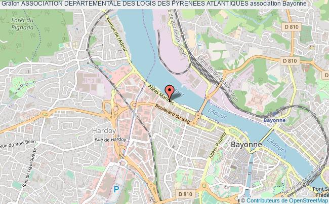 plan association Association Departementale Des Logis Des Pyrenees Atlantiques