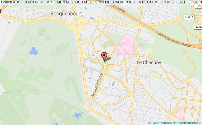 plan association Association Departementale Des Medecins Liberaux Pour La Regulation Medicale Et La Permanence Des Soins Ambulatoires Des Yvelines Noisy-le-Roi