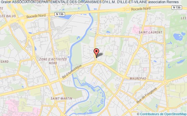 plan association Association Departementale Des Organismes D'h.l.m. D'ille-et-vilaine