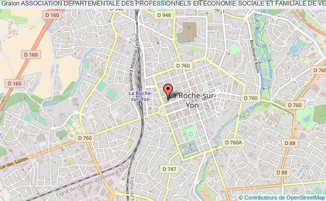 plan association Association Departementale Des Professionnels En Economie Sociale Et Familiale De Vendee (adpesf 85) La    Roche-sur-Yon