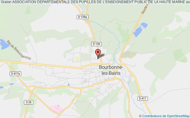 plan association Association Departementale Des Pupilles De L'enseignement Public De La Haute Marne Bourbonne-les-Bains