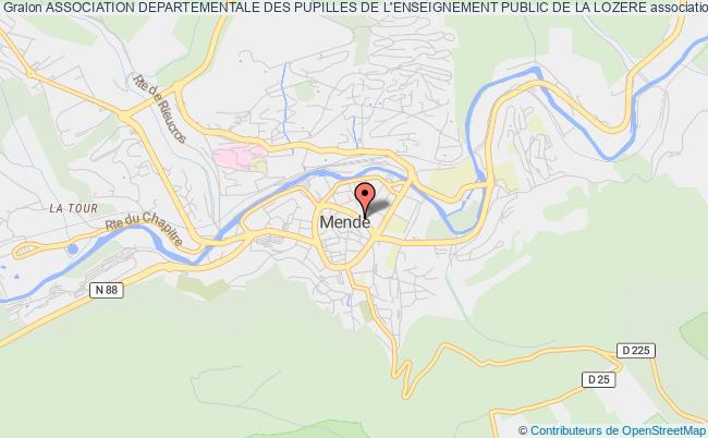 plan association Association Departementale Des Pupilles De L'enseignement Public De La Lozere