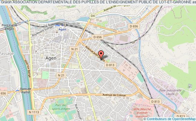 plan association Association Departementale Des Pupilles De L'enseignement Public De Lot-et-garonne