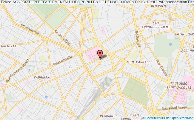 plan association Association Departementale Des Pupilles De L'enseignement Public De Paris Paris