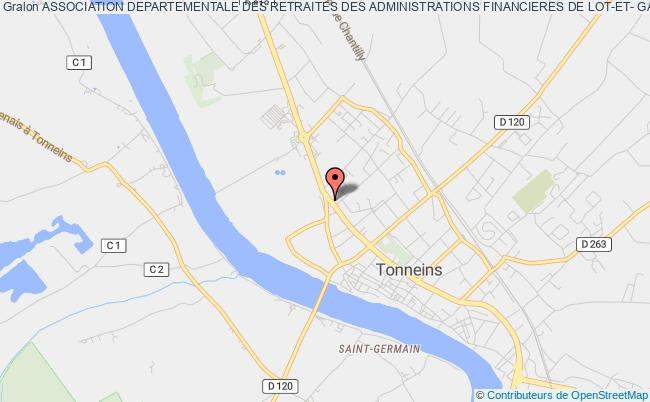 plan association Association Departementale Des Retraites Des Administrations Financieres De Lot-et- Garonne Tonneins