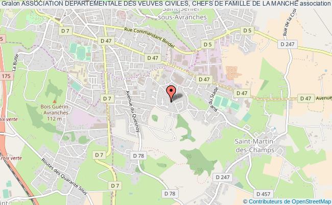 plan association Association Departementale Des Veuves Civiles, Chefs De Famille De La Manche