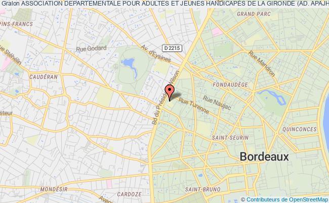 plan association Association Departementale Pour Adultes Et Jeunes HandicapÉs De La Gironde (ad. Apajh 33)