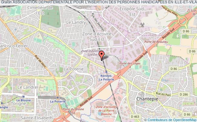 plan association Association Departementale Pour L'insertion Des Personnes Handicapees En Ille-et-vilaine (a.d.i.p.h 35) Rennes