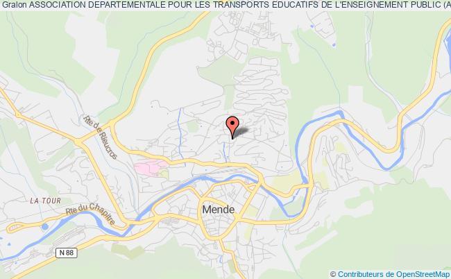 plan association Association Departementale Pour Les Transports Educatifs De L'enseignement Public (a.d.a.t.e.e.p. Lozere)