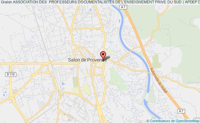 plan association Association Des  Professeurs Documentalistes De L'enseignement Prive Du Sud ( Apdep Du Sud ) Marseille