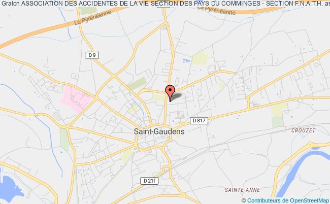 plan association Association Des Accidentes De La Vie Section Des Pays Du Comminges - Section F.n.a.t.h. Saint-Gaudens