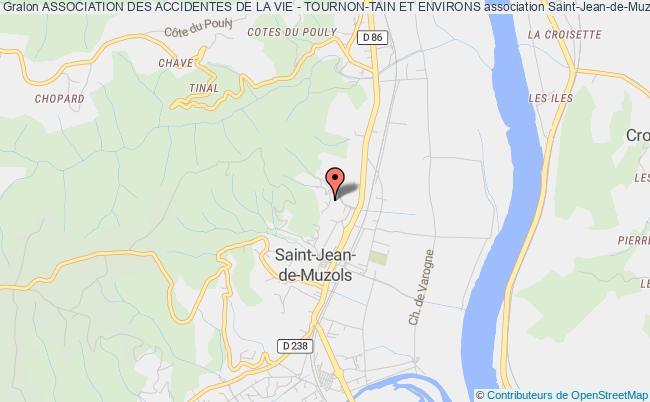 plan association Association Des Accidentes De La Vie - Tournon-tain Et Environs